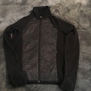Athleta black zip up running jacket